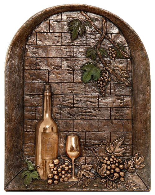 Window with Wine Bottle Backsplash Mural